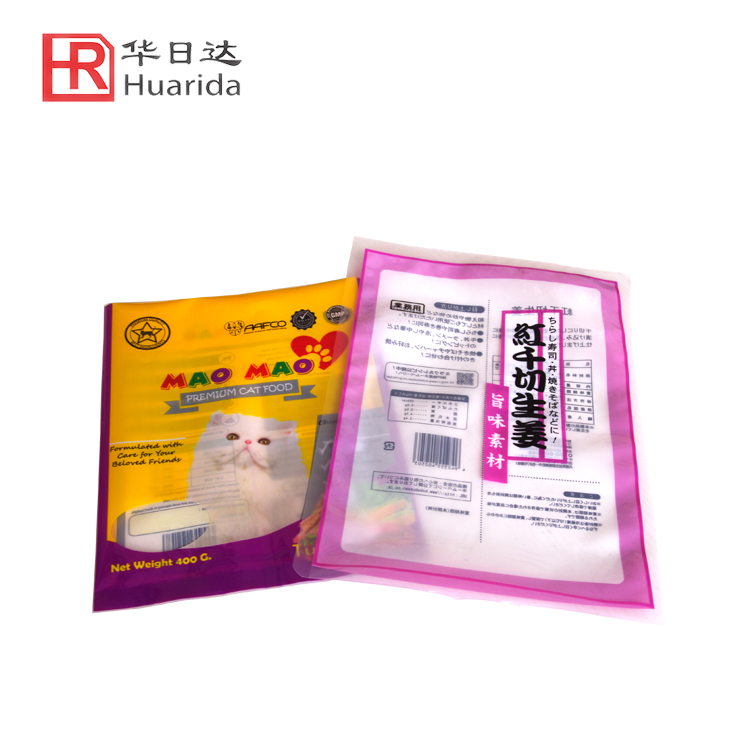 Frozen Food Packaging Bag Clear Plastic Bag